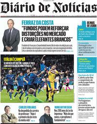 capa Diário de Notícias de 12 julho 2021