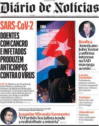 capa Diário de Notícias de 13 julho 2021