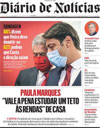 capa Diário de Notícias de 14 julho 2021