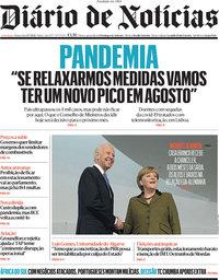 capa Diário de Notícias de 15 julho 2021