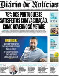capa Diário de Notícias de 16 julho 2021