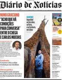 capa Diário de Notícias de 23 julho 2021