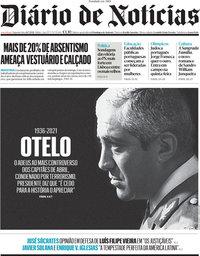 capa Diário de Notícias de 26 julho 2021