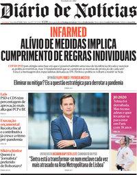 capa Diário de Notícias de 27 julho 2021