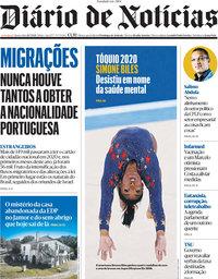 capa Diário de Notícias de 28 julho 2021