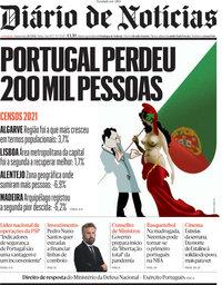 capa Diário de Notícias de 29 julho 2021