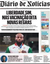 capa Diário de Notícias de 30 julho 2021