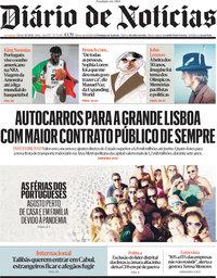capa Diário de Notícias de 31 julho 2021
