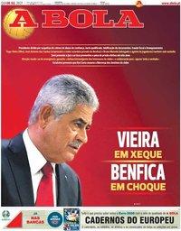 capa Jornal A Bola de 8 julho 2021