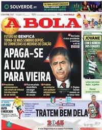 capa Jornal A Bola de 11 julho 2021