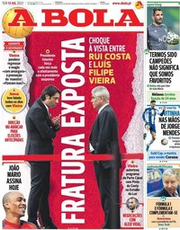 capa Jornal A Bola de 13 julho 2021
