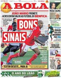 capa Jornal A Bola de 17 julho 2021