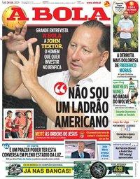 capa Jornal A Bola de 24 julho 2021