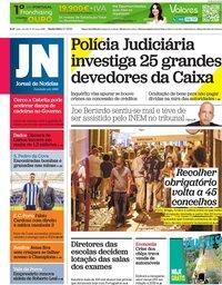 capa Jornal de Notícias de 2 julho 2021