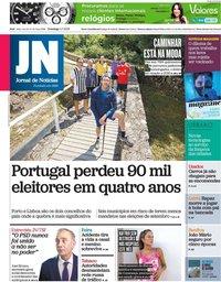 capa Jornal de Notícias de 4 julho 2021