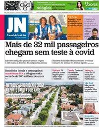 capa Jornal de Notícias de 6 julho 2021