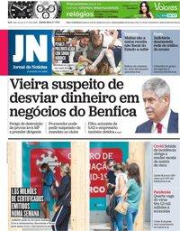capa Jornal de Notícias de 8 julho 2021