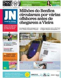 capa Jornal de Notícias de 9 julho 2021