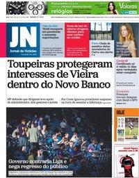 capa Jornal de Notícias de 10 julho 2021