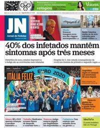 capa Jornal de Notícias de 12 julho 2021