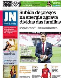 capa Jornal de Notícias de 13 julho 2021
