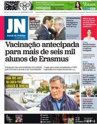 capa Jornal de Notícias de 14 julho 2021