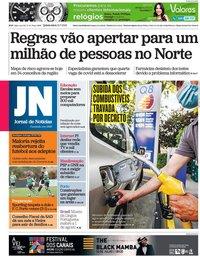 capa Jornal de Notícias de 15 julho 2021