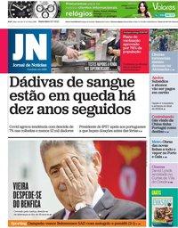 capa Jornal de Notícias de 16 julho 2021