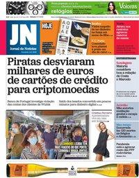 capa Jornal de Notícias de 17 julho 2021