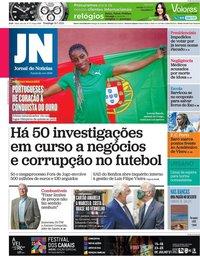 capa Jornal de Notícias de 18 julho 2021