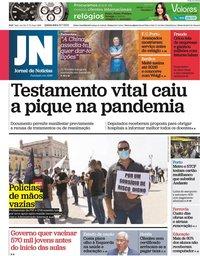 capa Jornal de Notícias de 22 julho 2021