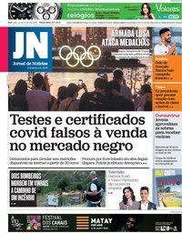 capa Jornal de Notícias de 23 julho 2021