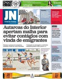 capa Jornal de Notícias de 24 julho 2021
