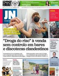capa Jornal de Notícias de 25 julho 2021