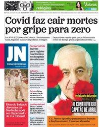 capa Jornal de Notícias de 26 julho 2021