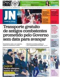 capa Jornal de Notícias de 27 julho 2021