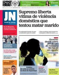 capa Jornal de Notícias de 28 julho 2021