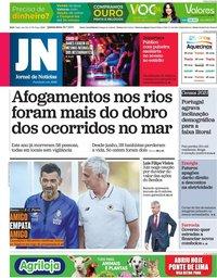 capa Jornal de Notícias de 29 julho 2021