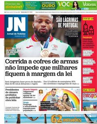 capa Jornal de Notícias de 30 julho 2021