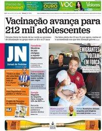 capa Jornal de Notícias de 31 julho 2021