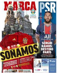 capa Jornal Marca de 2 julho 2021