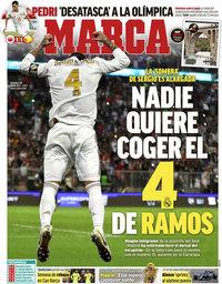 capa Jornal Marca de 18 julho 2021