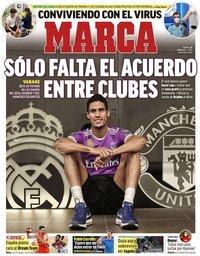 capa Jornal Marca de 20 julho 2021