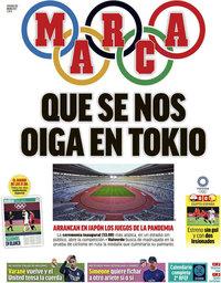 capa Jornal Marca de 23 julho 2021