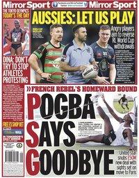 capa Jornal Mirror Sport
