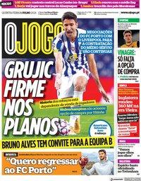 capa Jornal O Jogo de 1 julho 2021