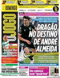 capa Jornal O Jogo de 4 julho 2021