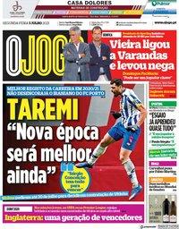 capa Jornal O Jogo de 5 julho 2021