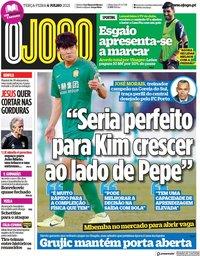 capa Jornal O Jogo de 6 julho 2021