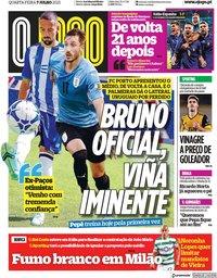 capa Jornal O Jogo de 7 julho 2021